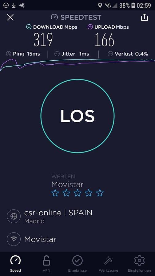 Speedtest.net von Ookla gibt Aufschluss über die tatsächlich verfügbare Bandbreite