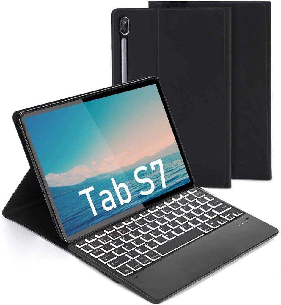 Abnehmbare Tastatur mit Schutzhülle für Samsung Tab S7